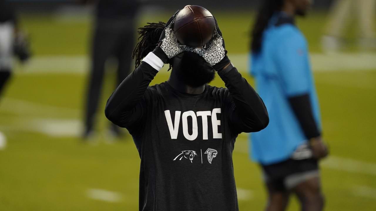 Falcons.  Panteras não usam camisetas do 'Rock the Vote' antes da TNF – NFL.com