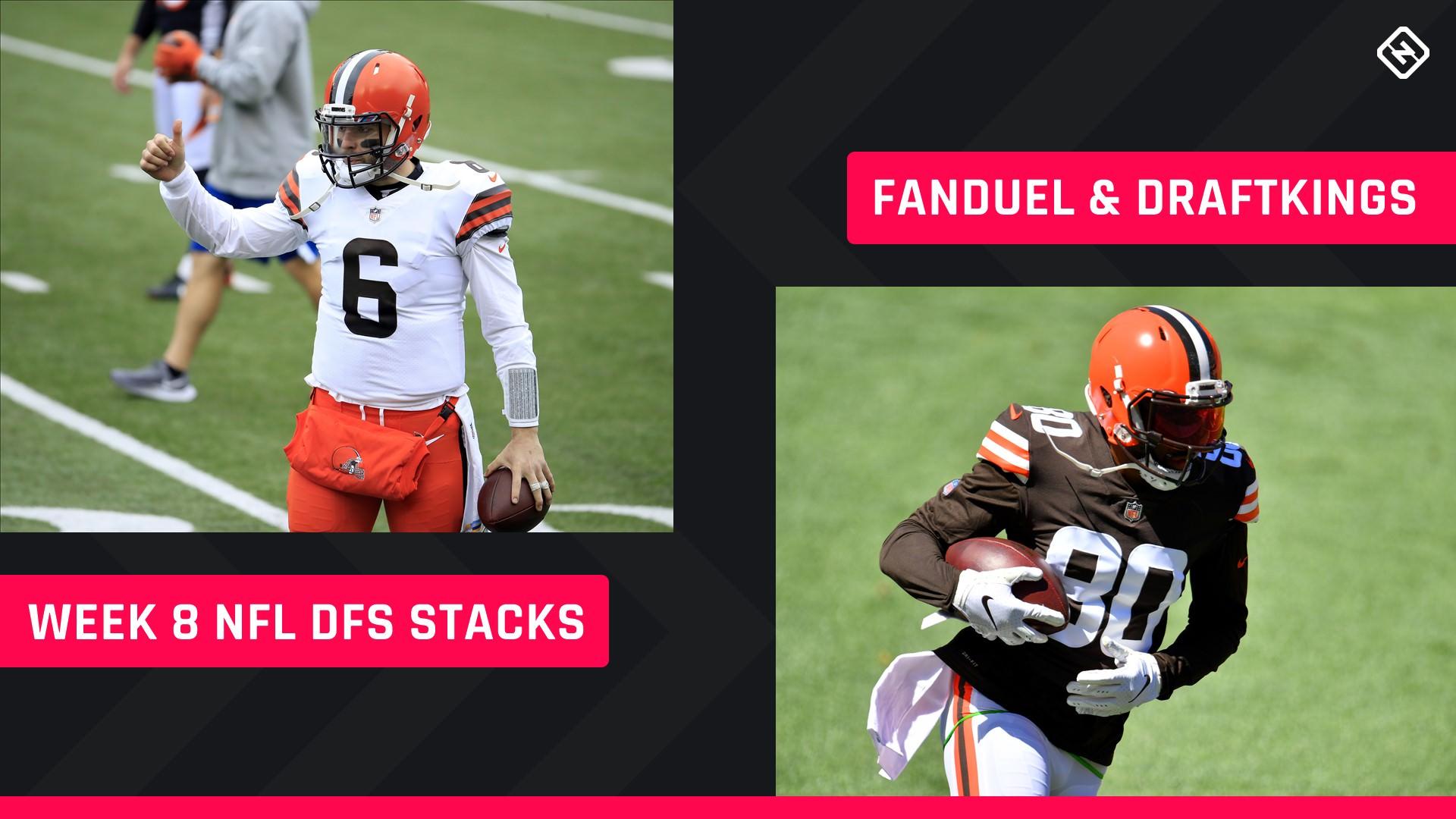 Semana 8 NFL DFS Stacks: melhores escolhas de lineup para DraftKings, torneios FanDuel, jogos a dinheiro