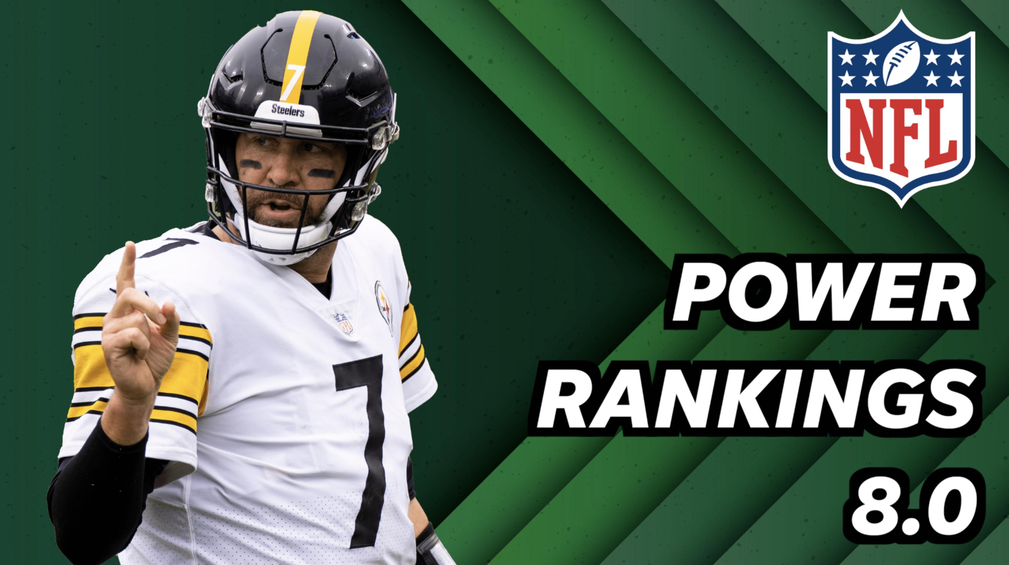 NFL Power rankings 8.0: Steelers sobe para o primeiro lugar