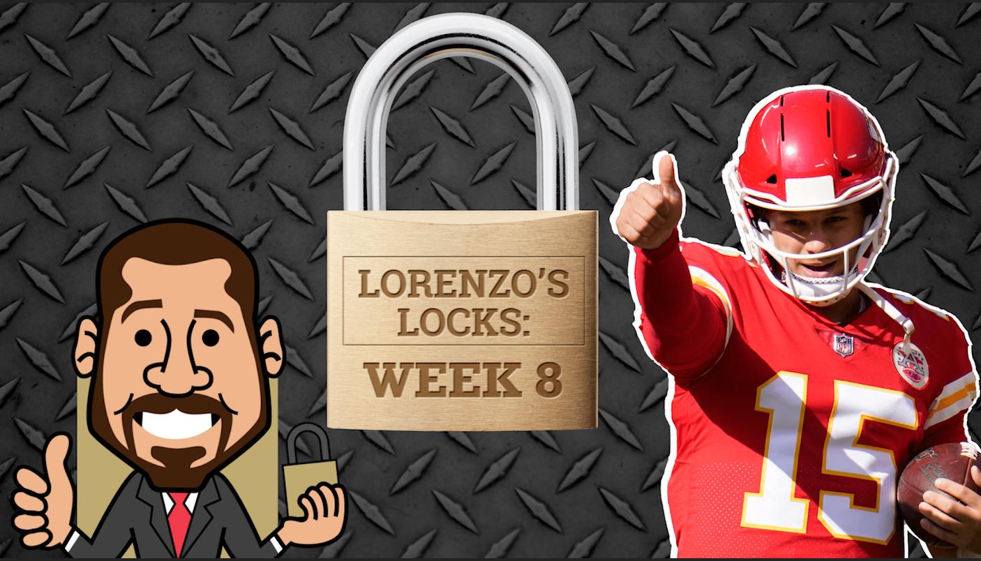 Lorenzo's Locks: As 3 melhores apostas que você deve considerar para a NFL Week 8