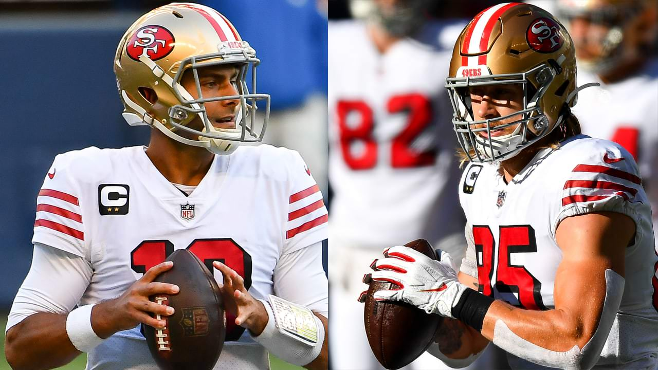 49ers QB Jimmy Garoppolo, TE George Kittle questionável para retornar vs. Seahawks – NFL.com