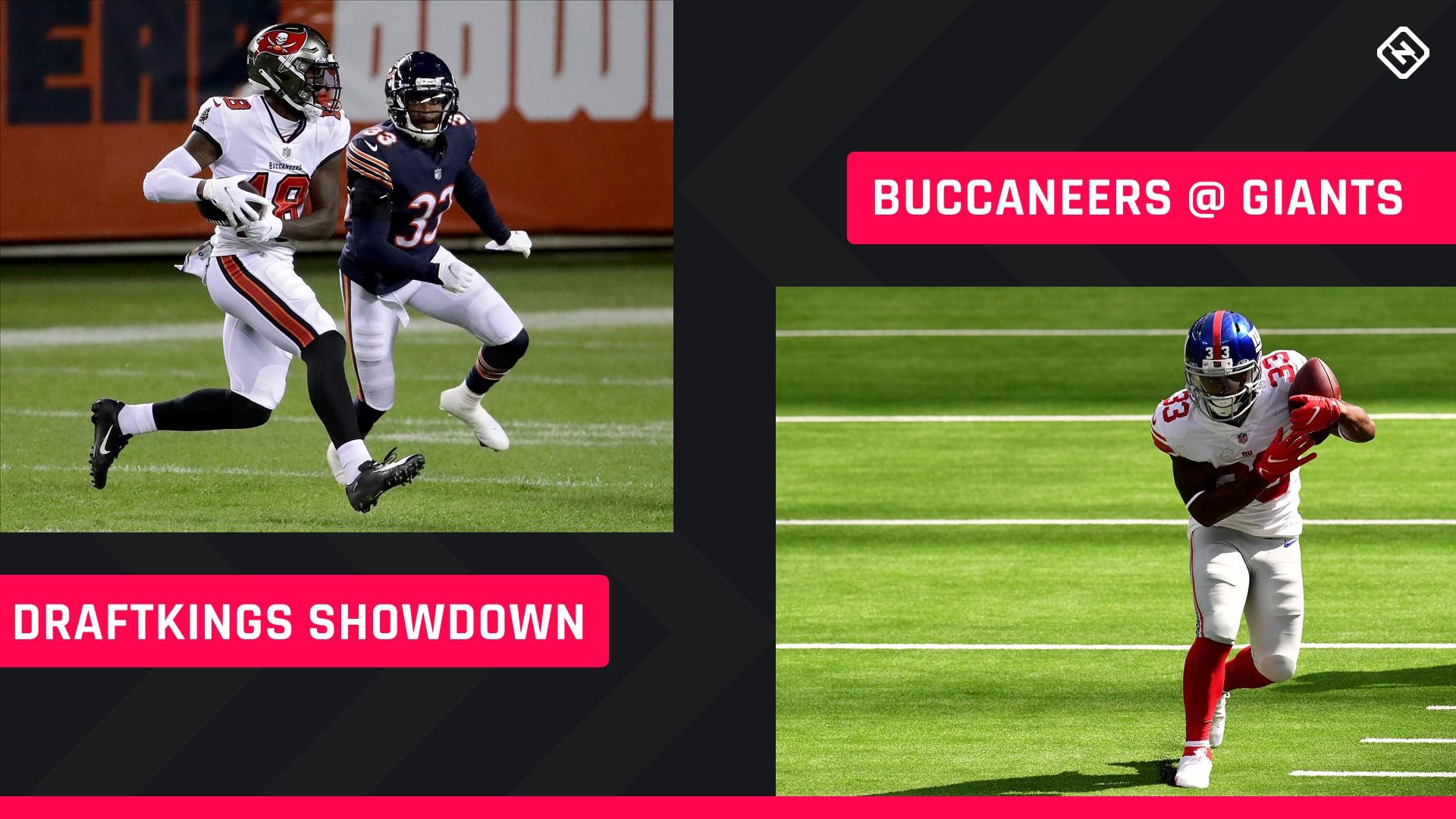 Escolhas dos Reis do Draft do futebol nas segundas-feiras à noite: conselhos sobre a escalação da NFL DFS para os torneios da Semana 8 do Buccaneers-Giants Showdown