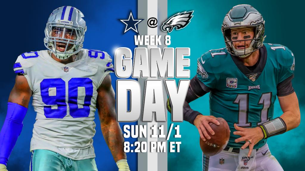 Transmissão ao vivo do Dallas Cowboys x Philadelphia Eagles, como assistir, previsões do futebol da NFL, probabilidades, canal de TV, horário de início