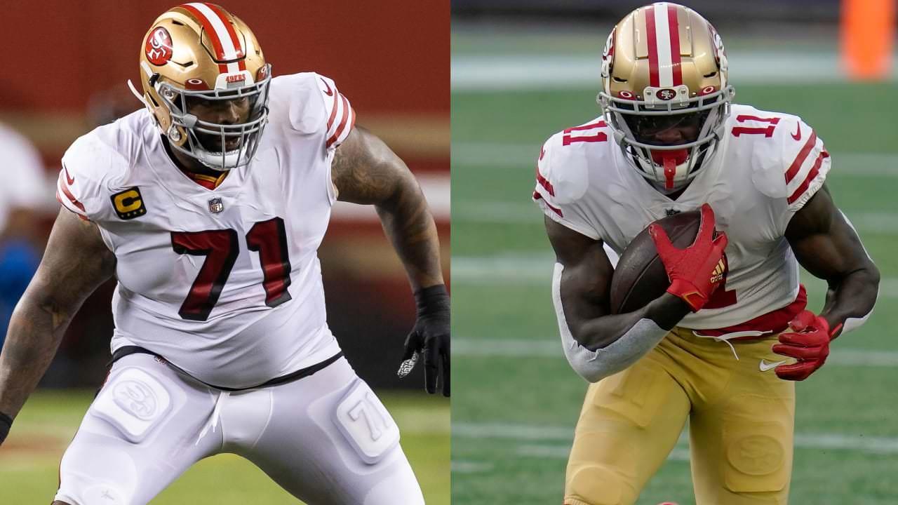49ers WR Brandon Aiyuk, Deebo Samuel, LT Trent Williams colocado na lista de reserva / COVID-19;  para 'TNF' – NFL.com