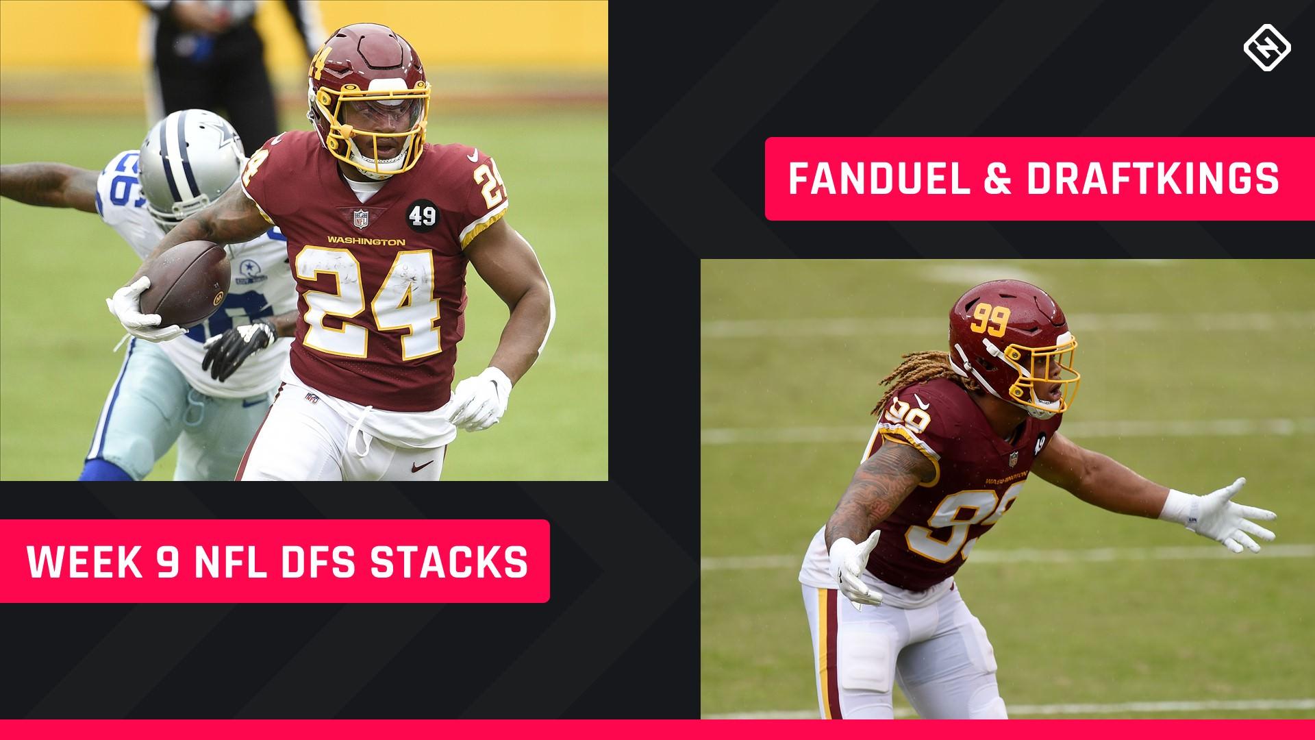 Semana 9 NFL DFS Stacks: melhores escolhas de lineup para DraftKings, torneios FanDuel, jogos a dinheiro