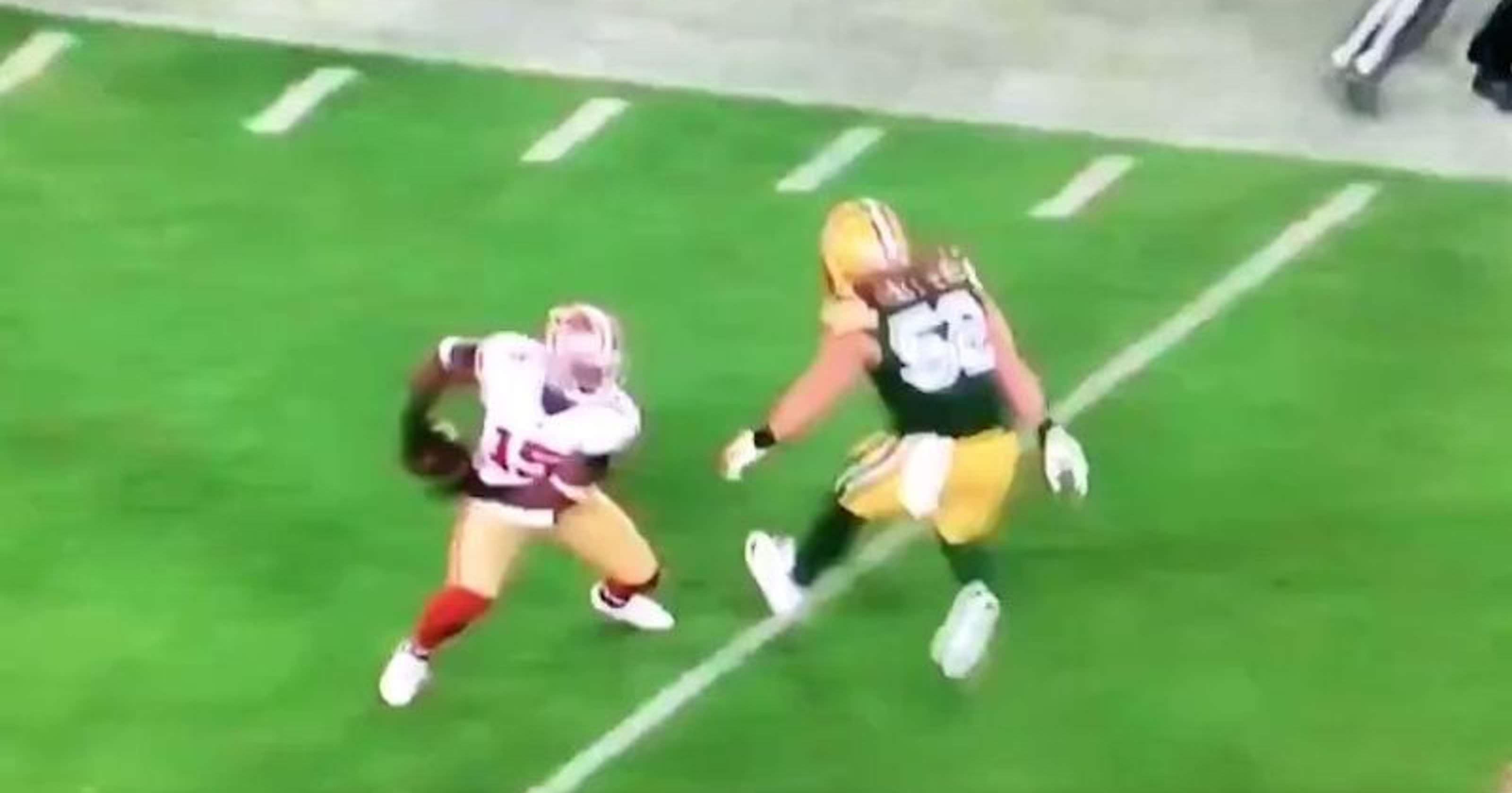 Fãs da NFL rasgam tackle embaraçoso Clay Matthews