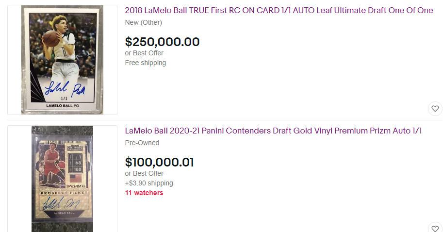 LaMelo Ball é a escolha nº 1 para colecionadores de cartas, e não chega nem perto