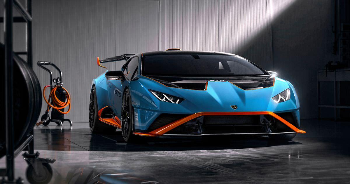 O RWD Lamborghini Huracan STO é um carro de pista legal com influência GT3 Racing