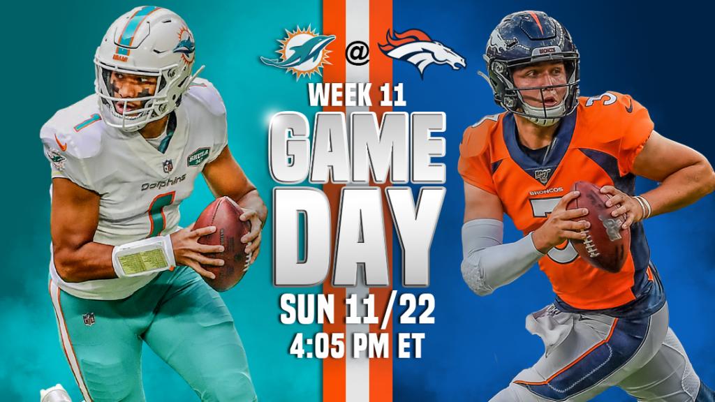 Transmissão ao vivo do Miami Dolphins x Denver Broncos, como assistir, previsões de futebol da NFL, probabilidades, canal de TV, horário de início