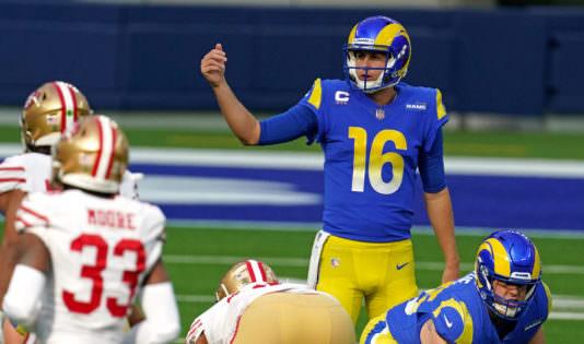 """""""Era quase 100% sobre ele"""" – Analistas da NFL atacam no Los Angeles Rams Quarterback após a perda do 49ers"""