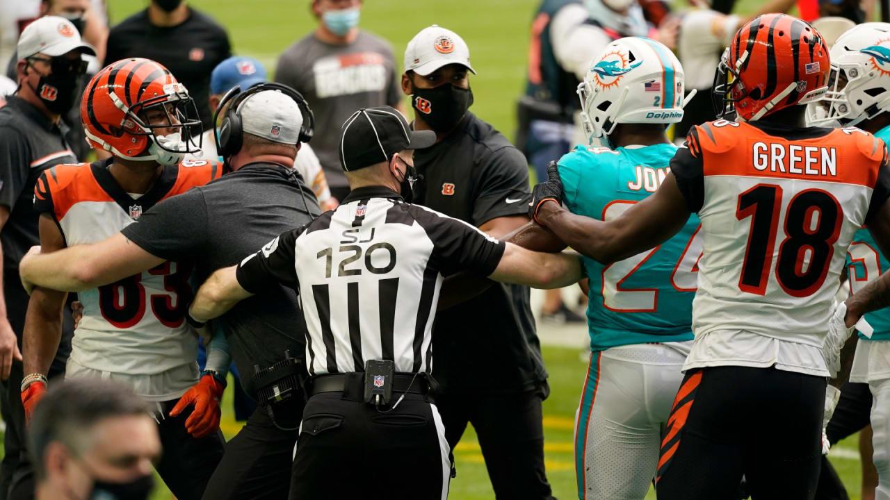 Os participantes em combate corpo a corpo Bengals-Dolphins serão analisados para possíveis multas, não suspensões – NFL.com
