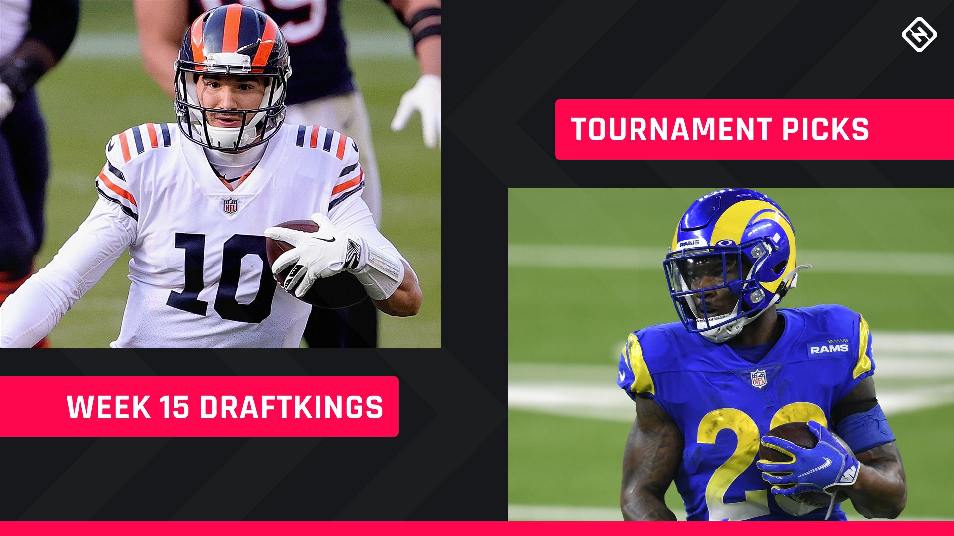 DraftKings Picks Semana 15: Conselhos sobre a escalação NFL DFS para torneios diários de fantasy football
