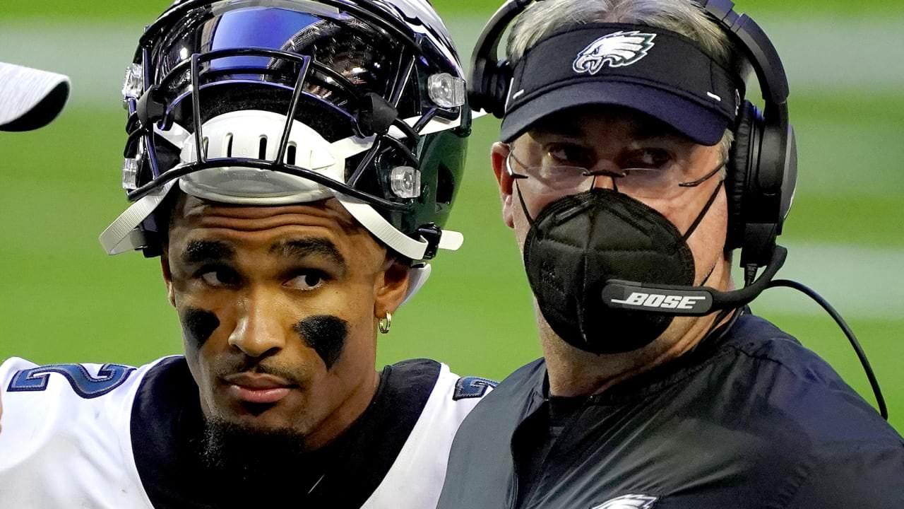 Eagles QB Jalen Hurts wows com 4 TDs perdidos;  Doug Pederson mãe no starter – NFL.com