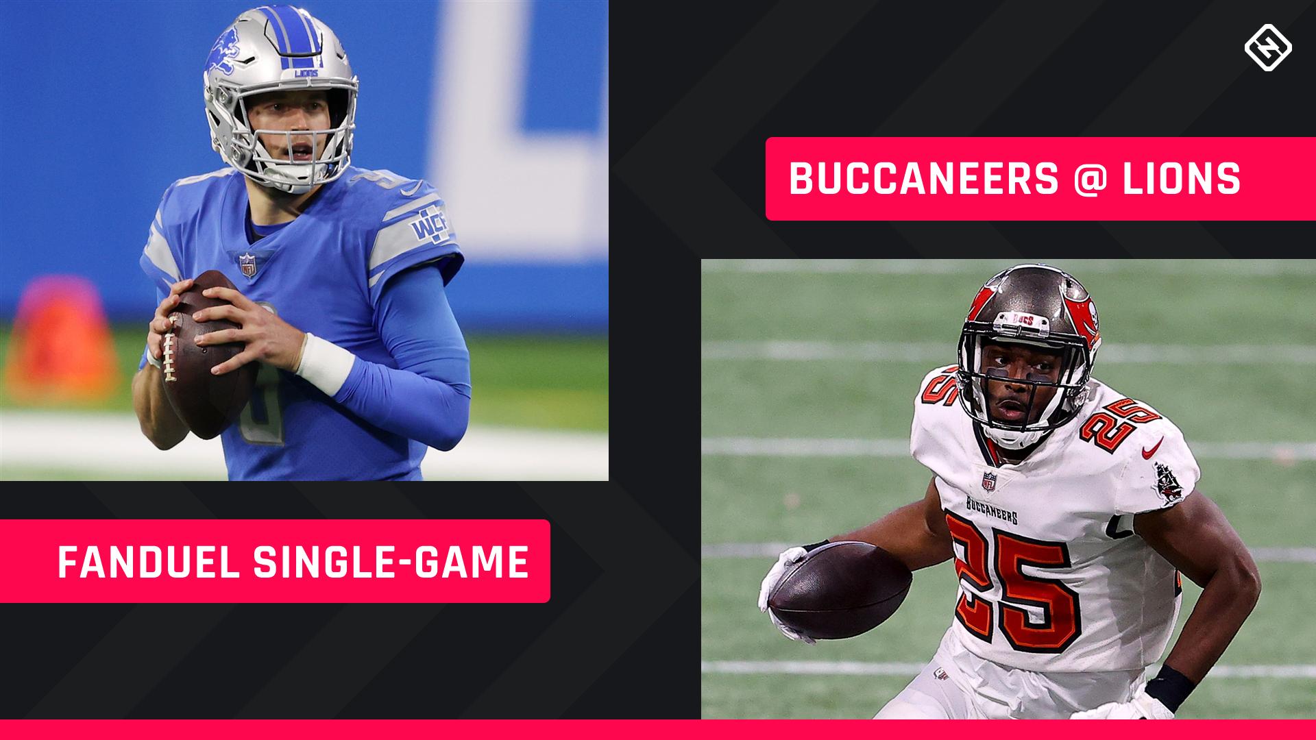 Escolhas FanDuel aos sábados: conselhos sobre a escalação da NFL DFS para os torneios de jogo único da Semana 16 dos Buccaneers-Lions