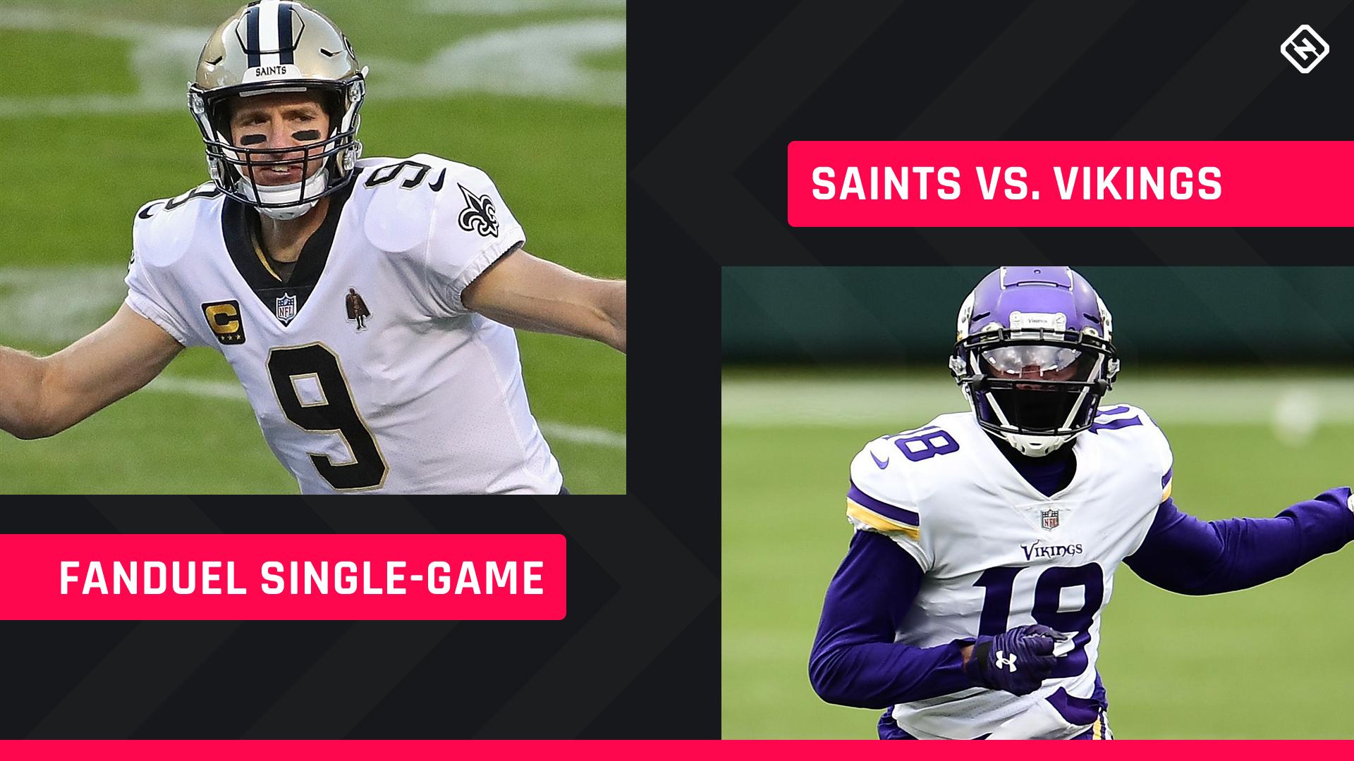 Christmas FanDuel Picks: NFL DFS lineup conselho para a Semana 16 dos torneios de jogo único Vikings-Saints