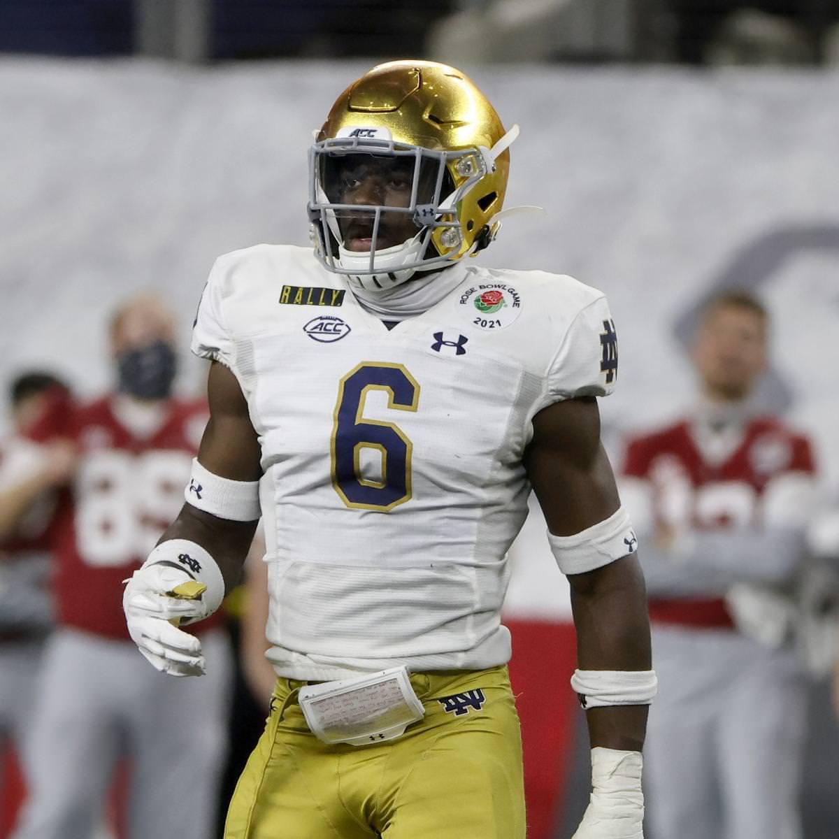 Jeremiah Owusu-Koramoah, da Notre Dame, declara o Draft de 2021 da NFL