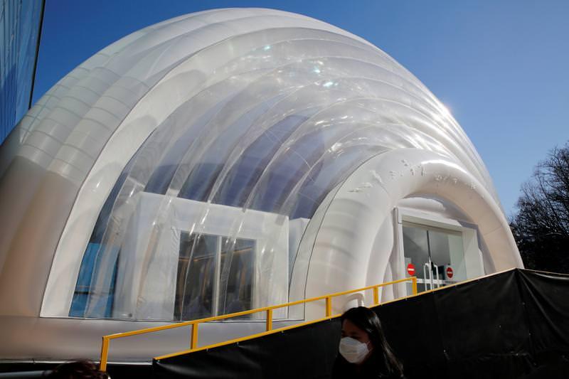 Coreia do Sul lança ala de isolamento inflável para pacientes com COVID-19