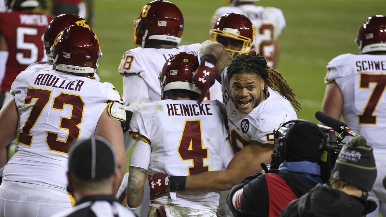 Washington QB Taylor Heinicke rouba o coração dos espectadores com um desempenho 'corajoso' na derrota para Bucs – NFL.com