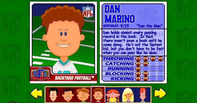 O Backyard Football convenceu minha infância de que Dan Marino era lixo