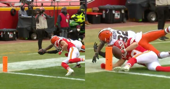 Os Browns foram atingidos com a regra mais idiota do futebol contra os Chiefs nos playoffs