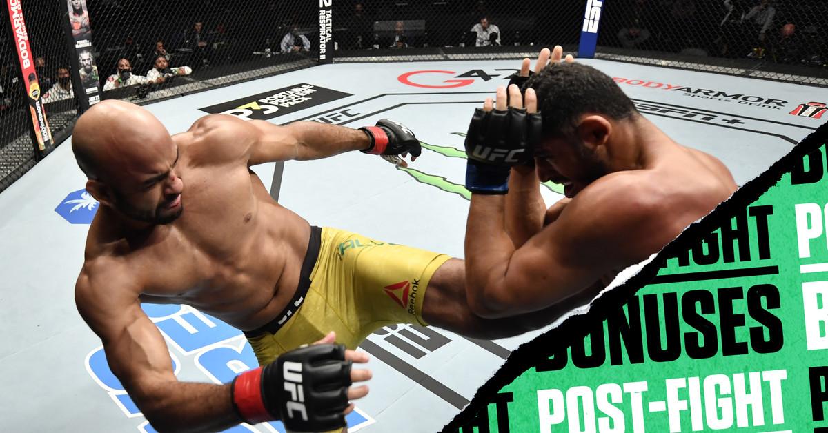 UFC Fight Island 8 bônus pós-luta: Body kick TKO nets Warlley Alves $ 50k