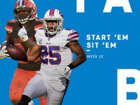 Start 'Em, Sit' Em Semana 12: Correndo costas – NFL.com