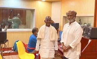 A superestrela Rajnikanth visita o novo estúdio de Ilayaraaja – fotos virais!