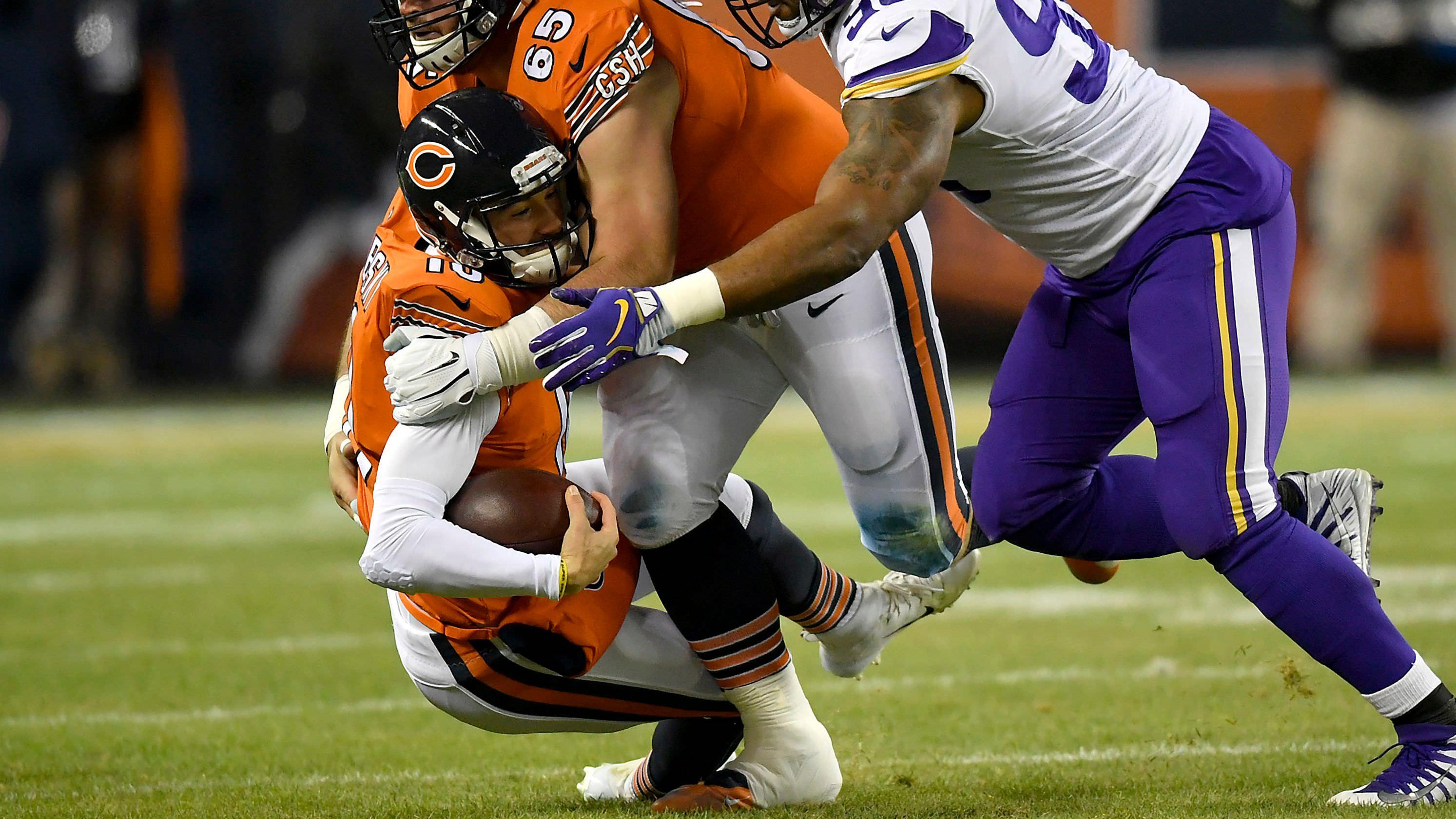 Mitchell Trubisky dos ursos duvidosa para jogar em Detroit no Dia de Ação de Graças devido a lesão no ombro