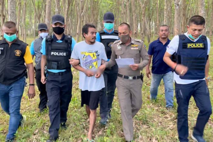 Três homens presos por assassinato em Surat Thani