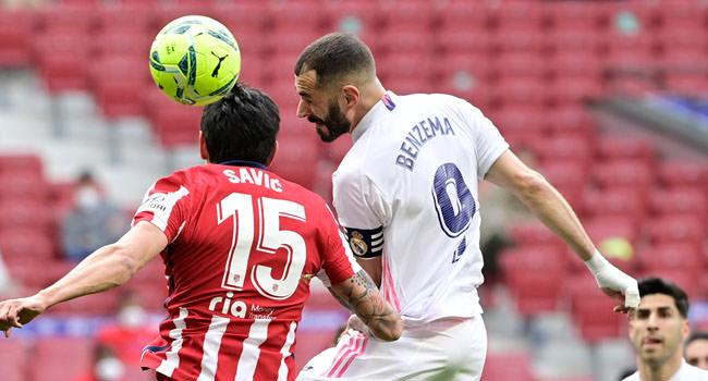 O Atlético negou a vitória do Derby pelo final do equalizador de Benzema