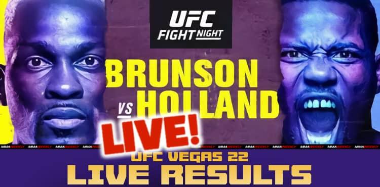Resultados ao vivo do UFC Vegas 22: Brunson x Holanda