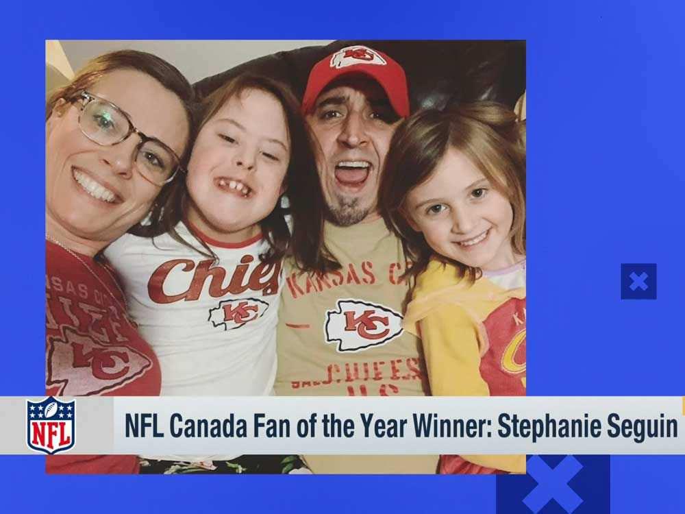 Seguin de Windsor ganha o título de fã do ano da NFL Canadá