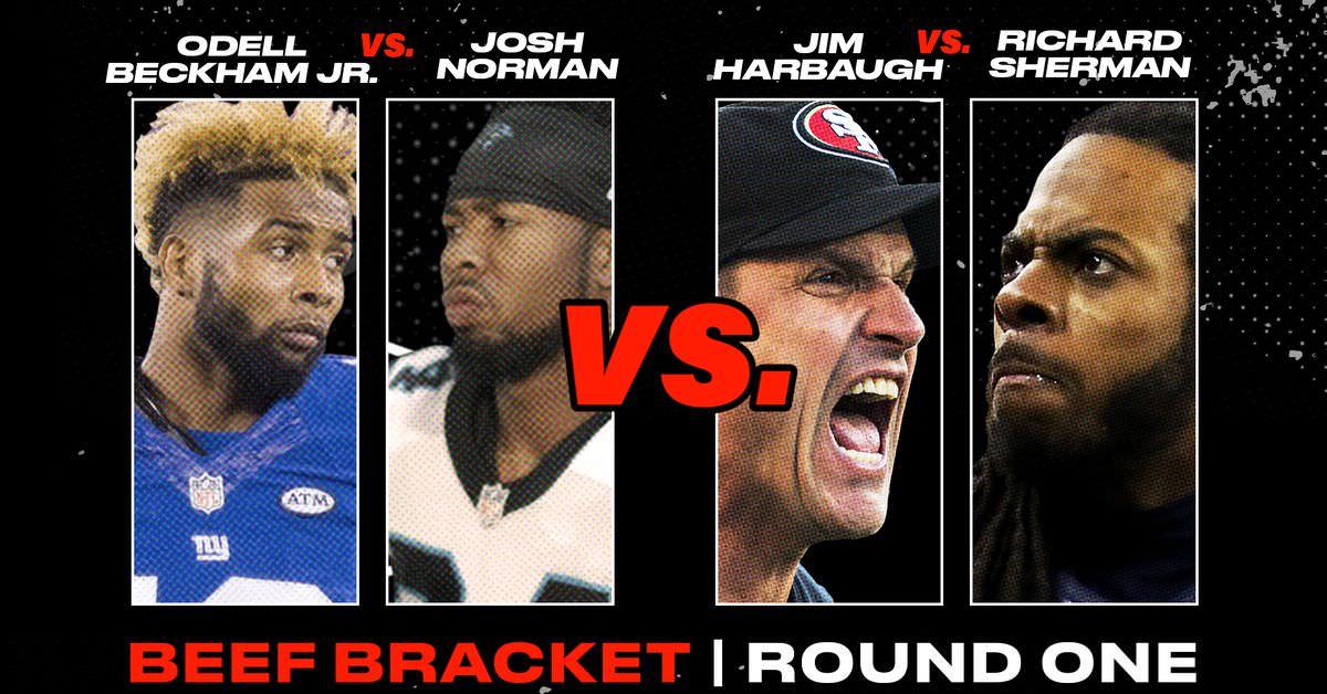 BEEF VOTE: Odell Beckham Jr vs. Josh Norman OU Jim Harbaugh vs. Richard Sherman