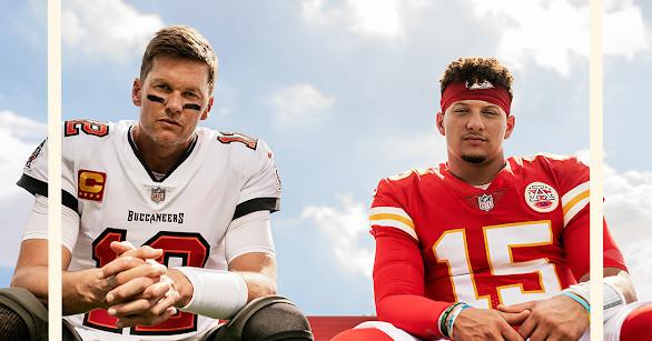 Tom Brady e Patrick Mahomes são os dois atletas cover de 'Madden 22'