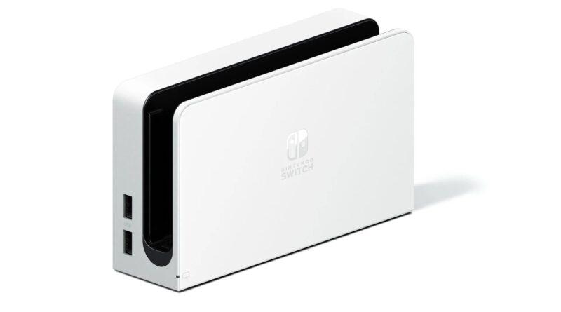 Você pode comprar o novo Switch OLED dock com a porta LAN separadamente