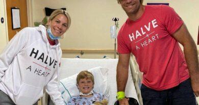 Filho de 8 anos, TJ, filho de Greg Olsen, estrela da NFL, sofre transplante de coração