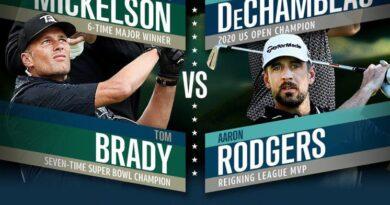 Tom Brady e Aaron Rodgers se enfrentam no torneio de golfe 'The Match'