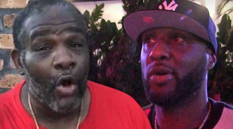 Lamar Odom lutando contra Riddick Bowe de 53 anos em uma luta de boxe de celebridades