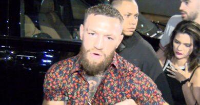 Conor McGregor muletas em torno de LA Hotspot, promete grande recuperação!