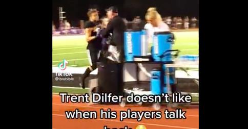 Trent Dilfer pede desculpas depois de gritar com um de seus jogadores do ensino médio