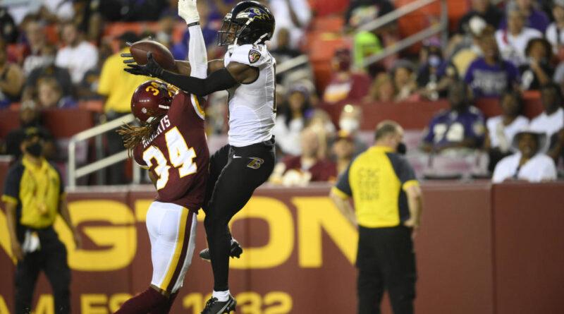 Ravens WR James Proche II multado por conduta anti-desportiva após celebração do DT