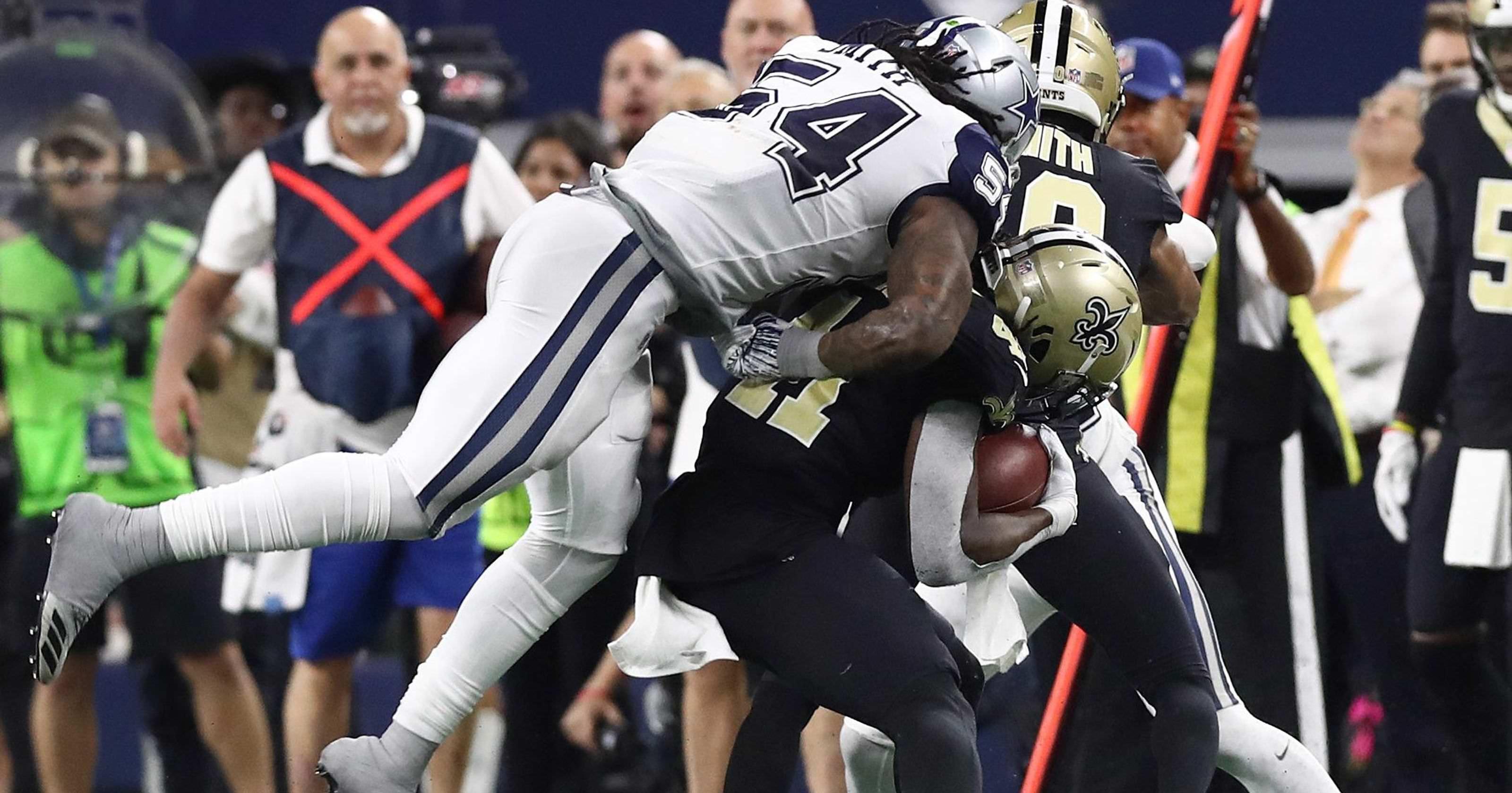 """Jaylon Smith, do Cowboys, no capacete contra o capacete em Kamara: """"Este é o último esporte de gladiadores"""""""