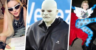 Melhores fotos de estrelas da semana: Yeezy canaliza Michael Myers, Miley está em dia e muito mais