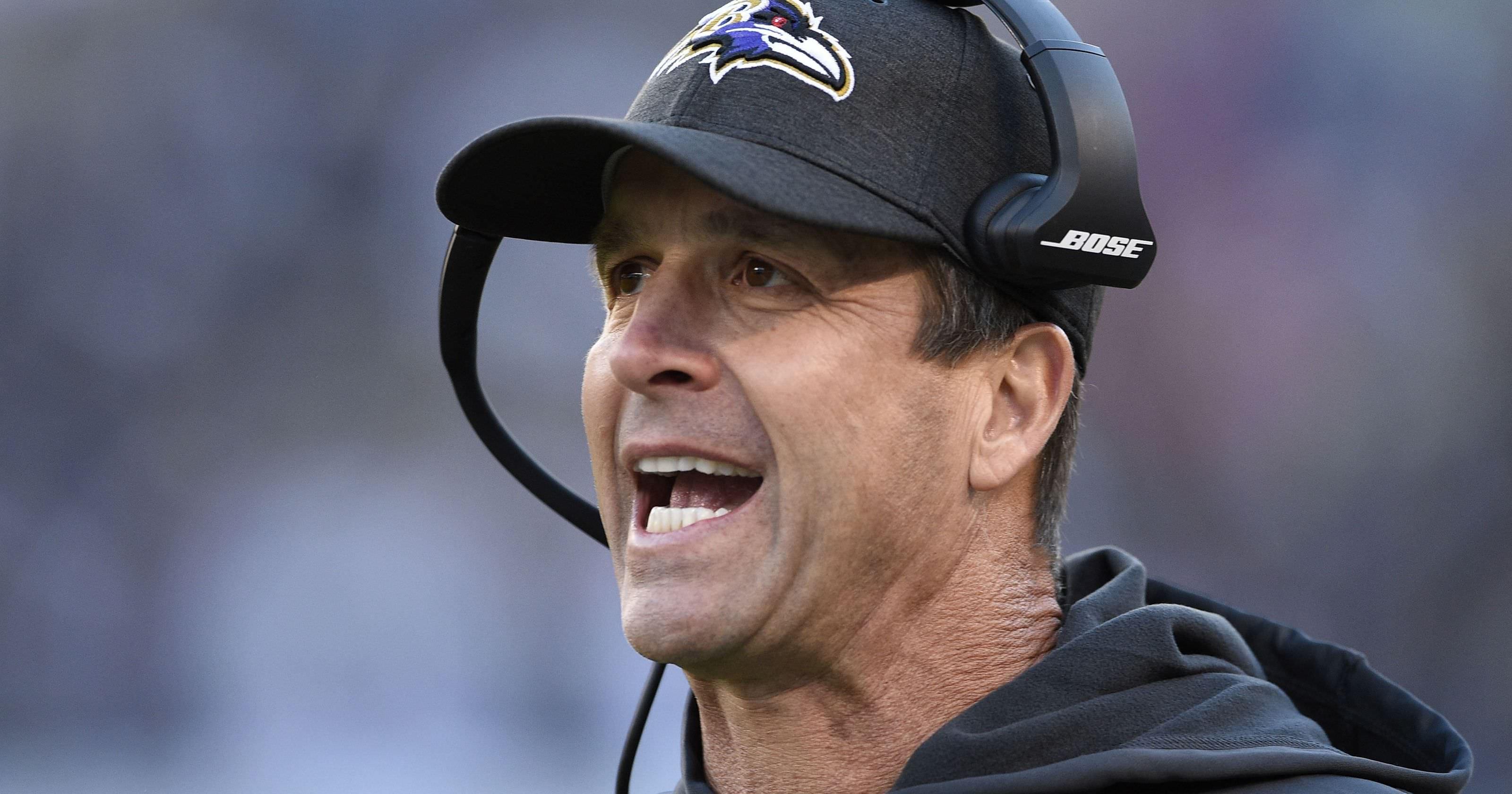 John Harbaugh para retornar como treinador dos Ravens em 2019