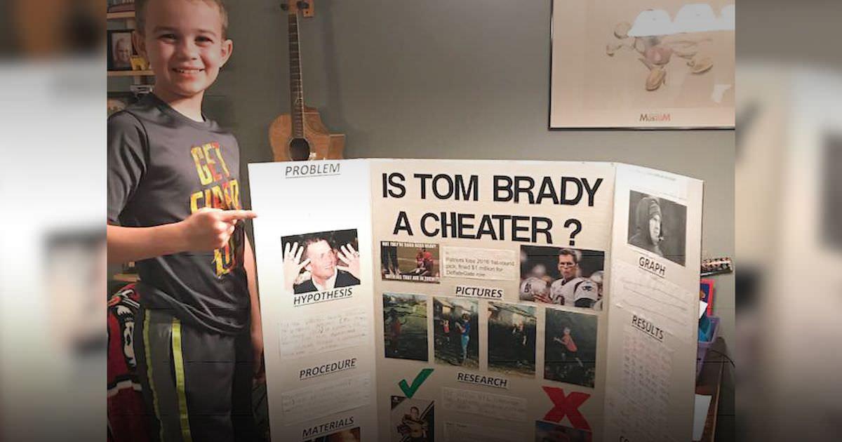 """Este garoto de 10 anos venceu uma feira de ciências ao """"provar"""" que Tom Brady é um trapaceiro"""