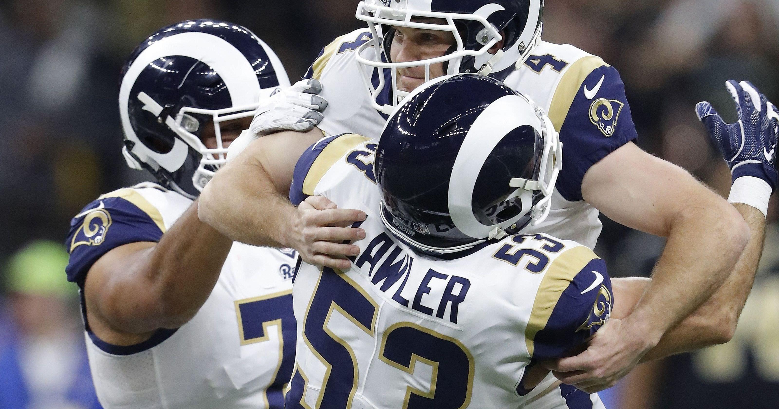 Rams kicker Zuerlein listado no relatório de lesões com problema no pé