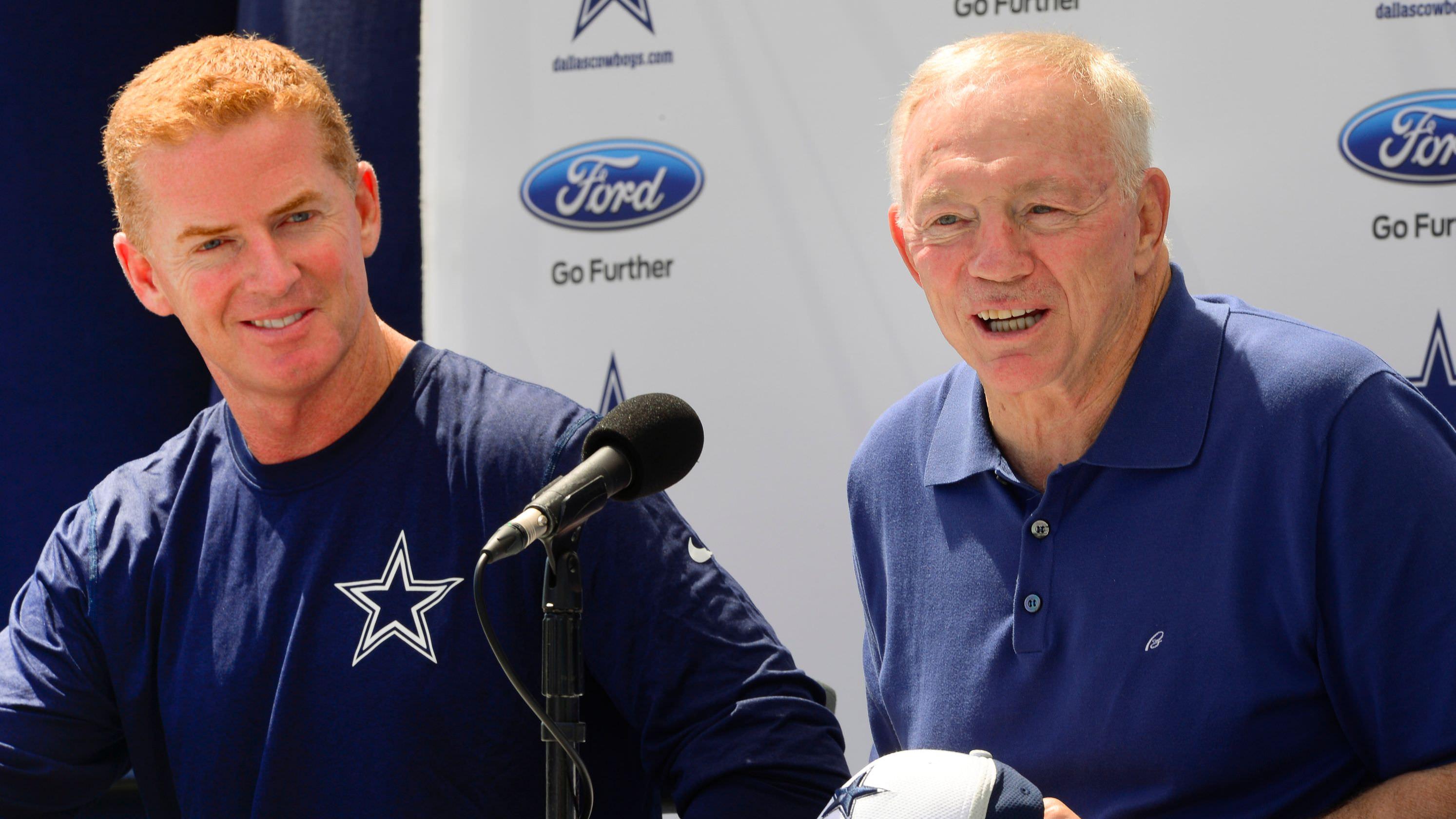 Jerry Jones dos Cowboys minimiza a situação do contrato de Jason Garrett: 'Ele confia em mim, eu confio nele'