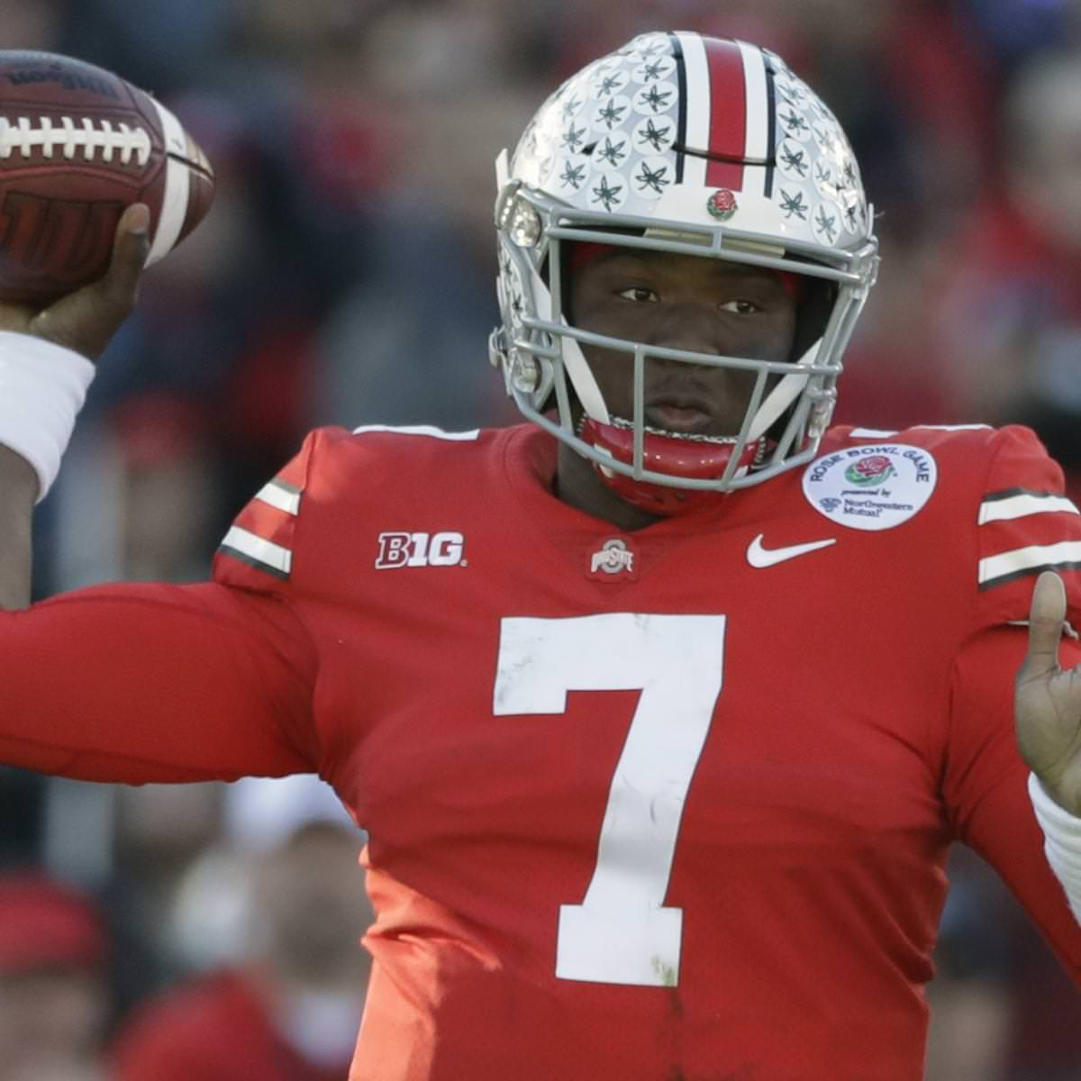 Projetado 1ª rodada Pick Dwayne Haskins deverá ser lançado em 2019 NFL Combin