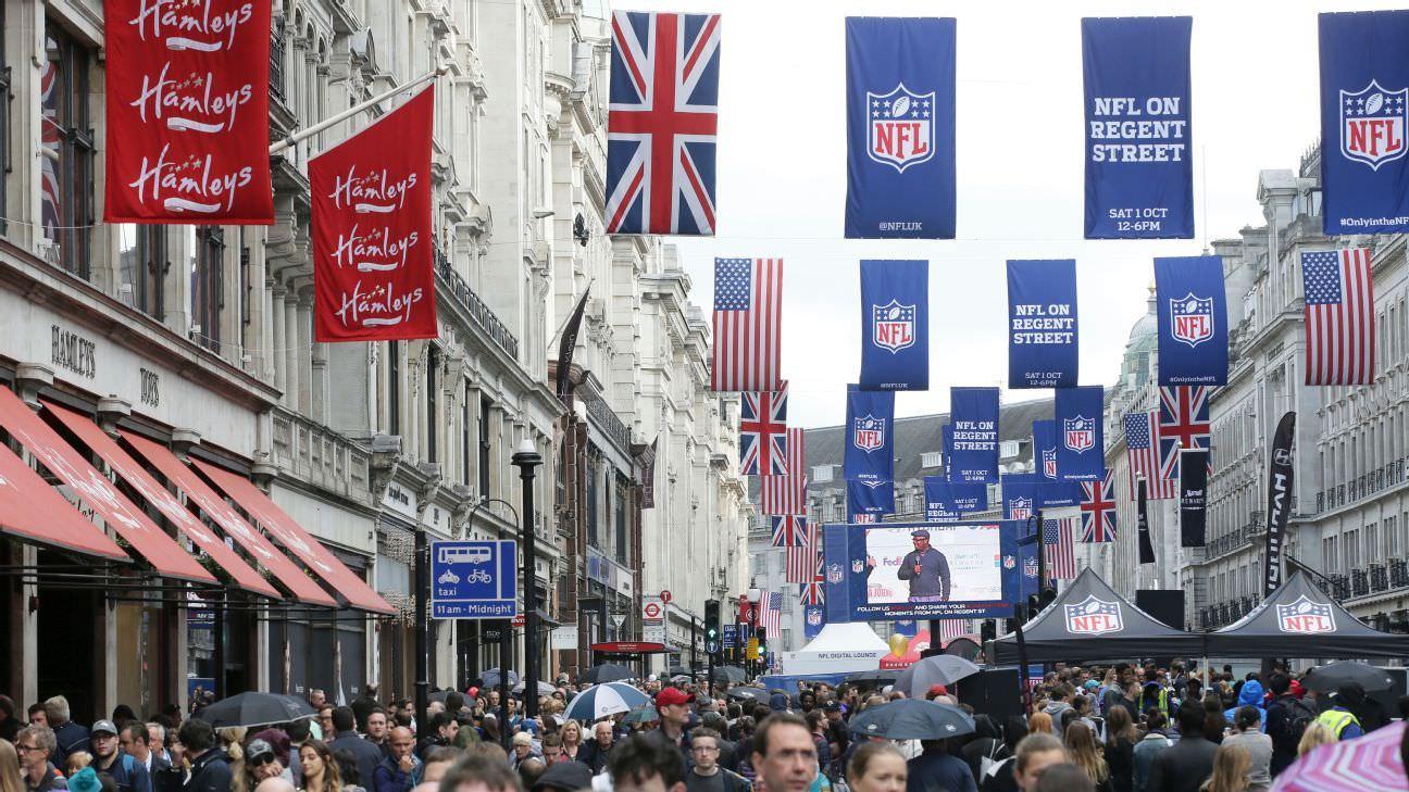 NFL lança confrontos para Londres, Cidade do México