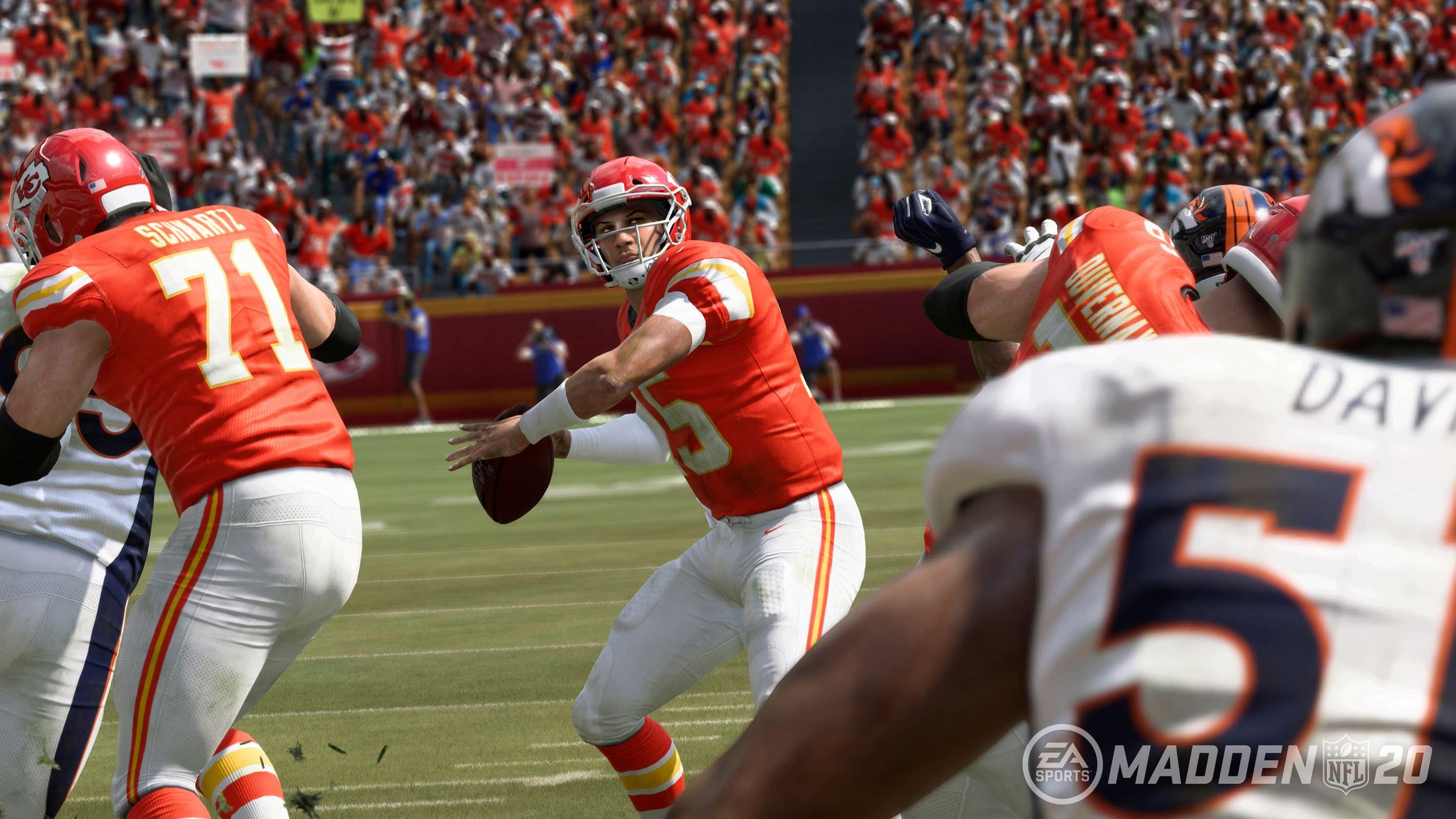 Patrick Mahomes está deixando sua marca em 'Madden NFL 20'